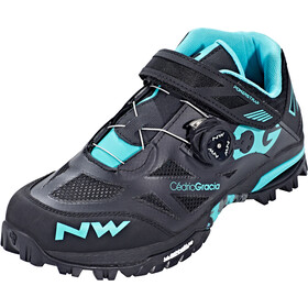 Northwave Enduro Mid Shoes Herren black/aqua